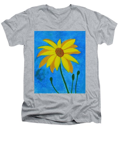 Old Yellow  Men's V-Neck T-Shirt by John Scates