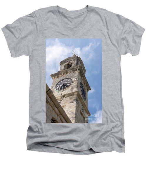 Olde Time Clock Men's V-Neck T-Shirt