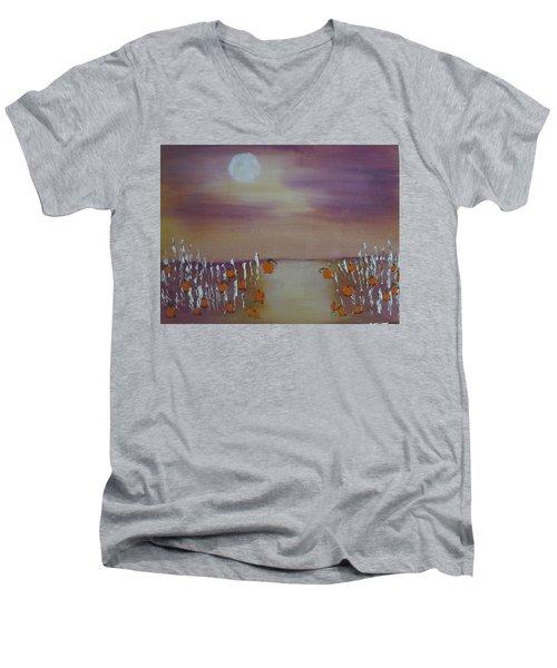 Olde Tyme Pumpkin Patch And Maze Men's V-Neck T-Shirt