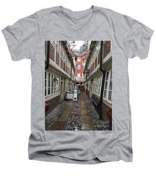 Krameramtsstuben The Oldest Street In Hamburg Germany Men's V-Neck T-Shirt