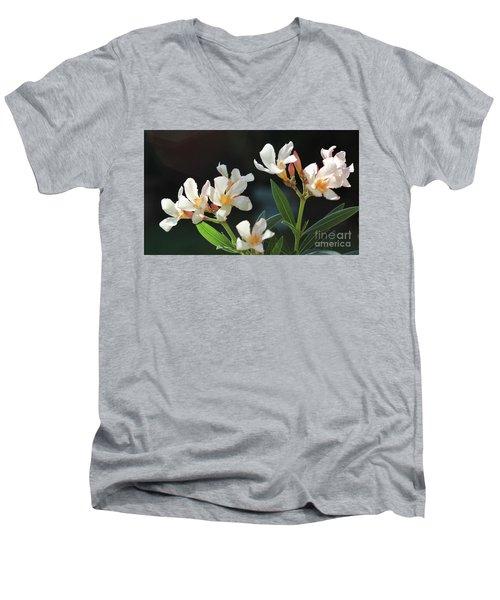 Oleander Petite Salmon 2 Men's V-Neck T-Shirt by Wilhelm Hufnagl