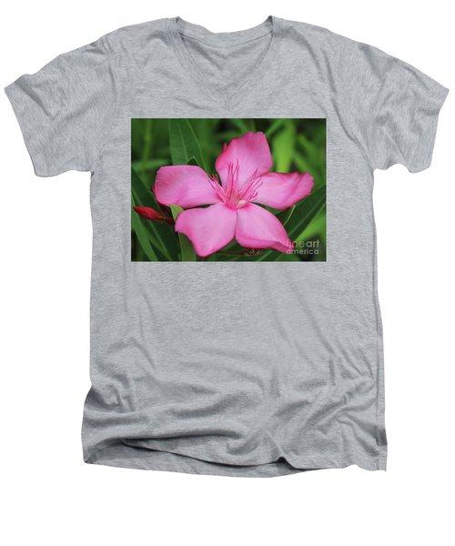 Oleander Professor Parlatore 2 Men's V-Neck T-Shirt by Wilhelm Hufnagl