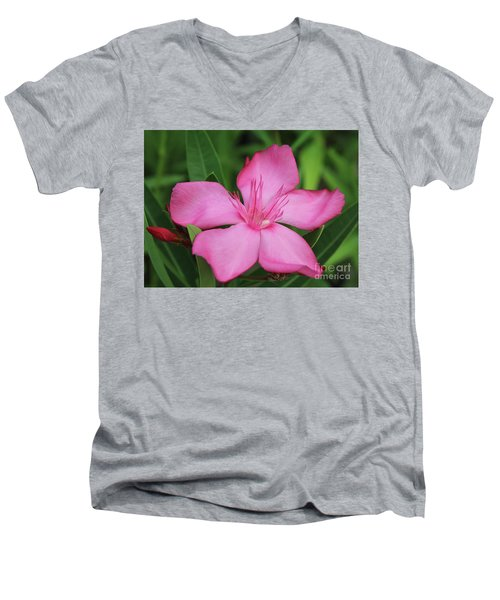 Oleander Professor Parlatore 2 Men's V-Neck T-Shirt