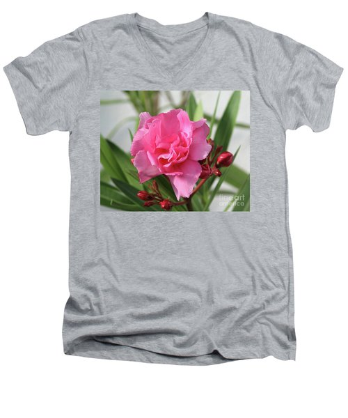 Oleander Splendens Giganteum 1 Men's V-Neck T-Shirt