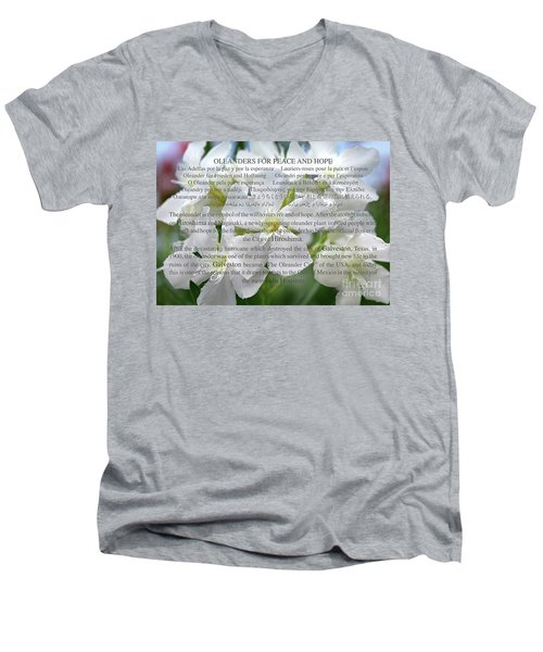 Oleanders For Peace And Hope Men's V-Neck T-Shirt by Wilhelm Hufnagl