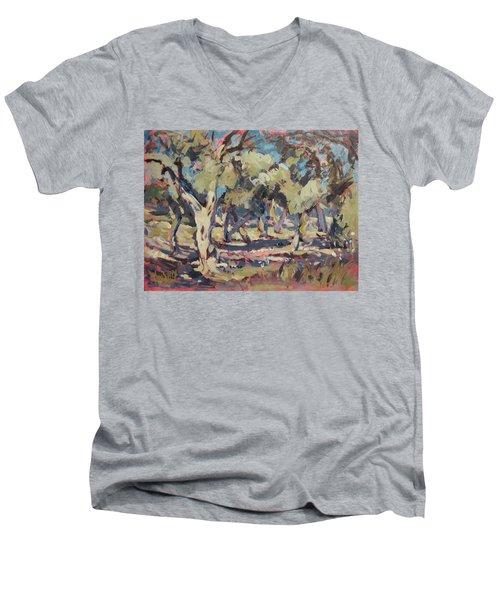 Olive Grove Along Marmari Beach Paxos Men's V-Neck T-Shirt