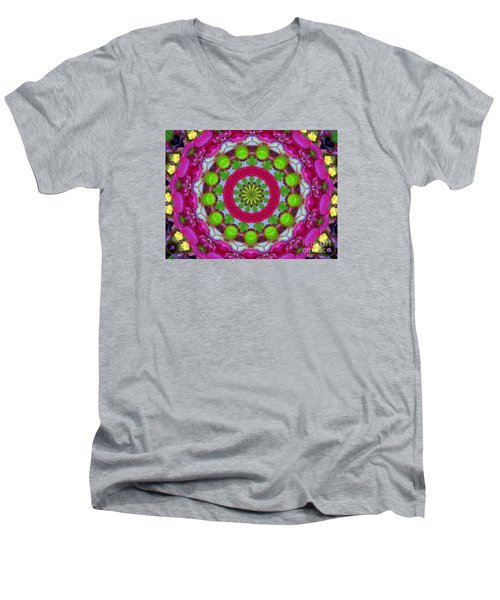 Men's V-Neck T-Shirt featuring the photograph Olive Plate by Shirley Moravec