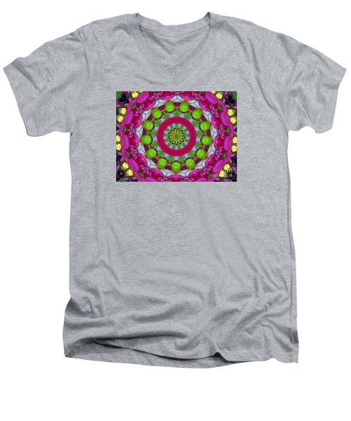 Olive Plate Men's V-Neck T-Shirt by Shirley Moravec