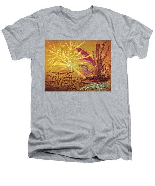 Olivier Messiaen Landscape Men's V-Neck T-Shirt by Charles Cater