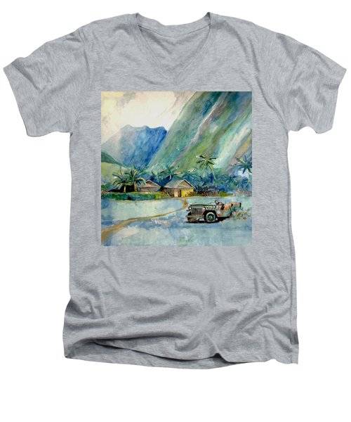 Olowalu Valley Men's V-Neck T-Shirt