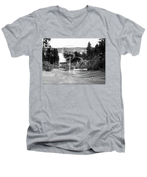 Olympia Country Club 18th Hole Men's V-Neck T-Shirt by Merle Junk