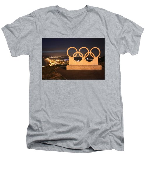 Olympic Rings Portland  Men's V-Neck T-Shirt