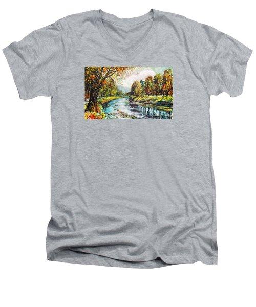 Olza River Men's V-Neck T-Shirt