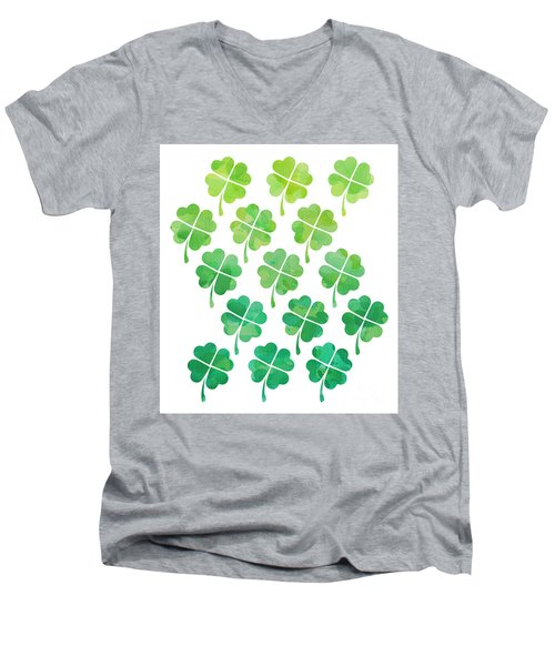Ombre Shamrocks Men's V-Neck T-Shirt