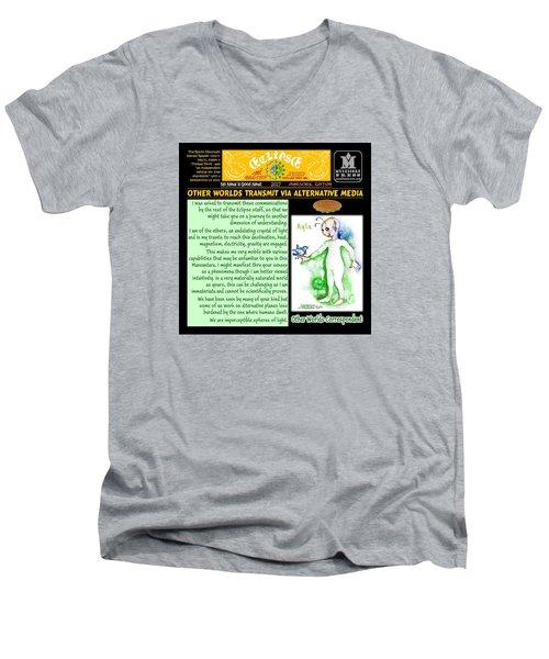 Omniscire Other Worlds Correspondent Men's V-Neck T-Shirt by Dawn Sperry