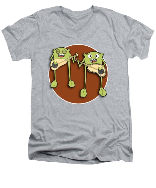 Omti And Itmo Men's V-Neck T-Shirt by Uncle J's Monsters