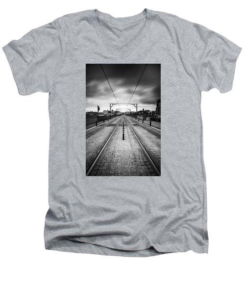 On A Gloomy Day Men's V-Neck T-Shirt