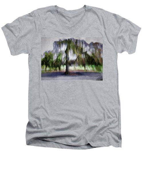 On A Rainy Day In Boston Men's V-Neck T-Shirt