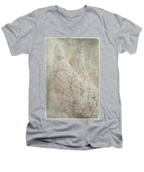 On Angels Wings 2 Men's V-Neck T-Shirt
