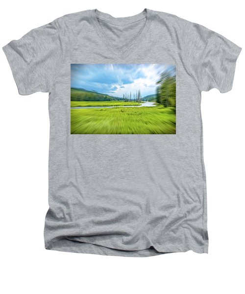 On Approach Men's V-Neck T-Shirt by Mark Dunton