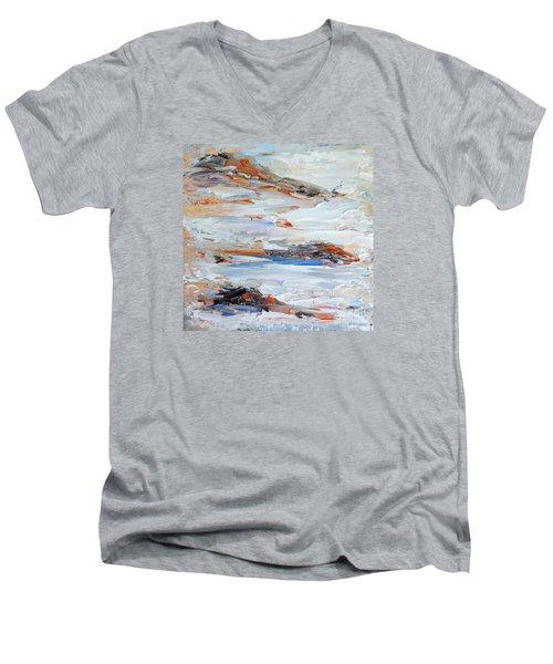 On Da Rocks Men's V-Neck T-Shirt by Fred Wilson