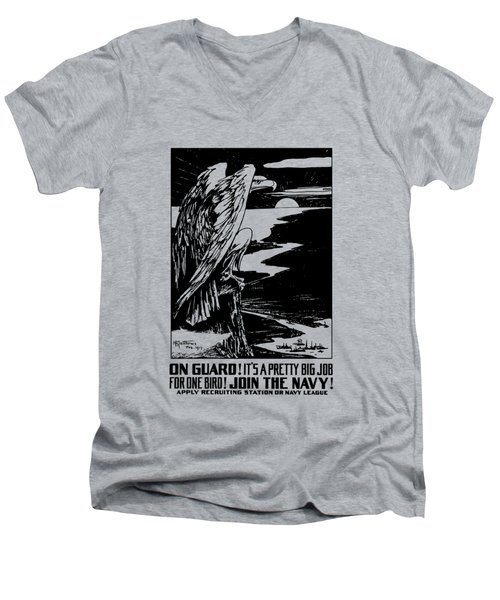 On Guard - Join The Navy Men's V-Neck T-Shirt