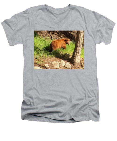 Men's V-Neck T-Shirt featuring the photograph On Monrovia Trail by Viktor Savchenko