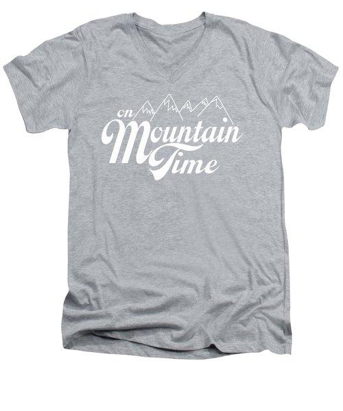 On Mountain Time Men's V-Neck T-Shirt