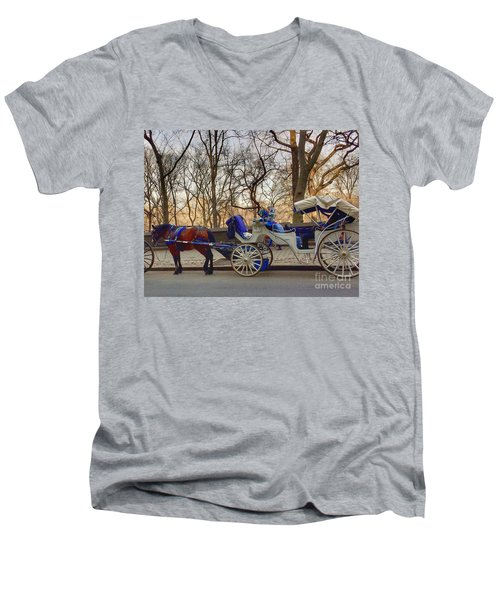 On My Bucket List Central Park Carriage Ride Men's V-Neck T-Shirt