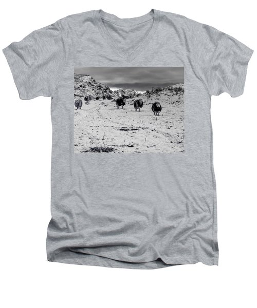 Men's V-Neck T-Shirt featuring the photograph On Our Way by Keith Elliott