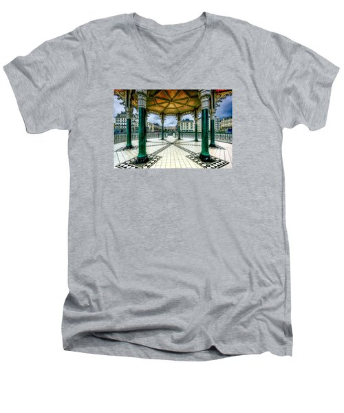 Men's V-Neck T-Shirt featuring the photograph On The Bandstand by Chris Lord
