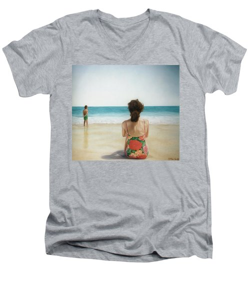 On The Beach Men's V-Neck T-Shirt