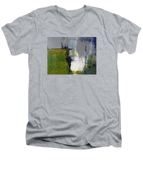 On The Edge Men's V-Neck T-Shirt by Becky Chappell