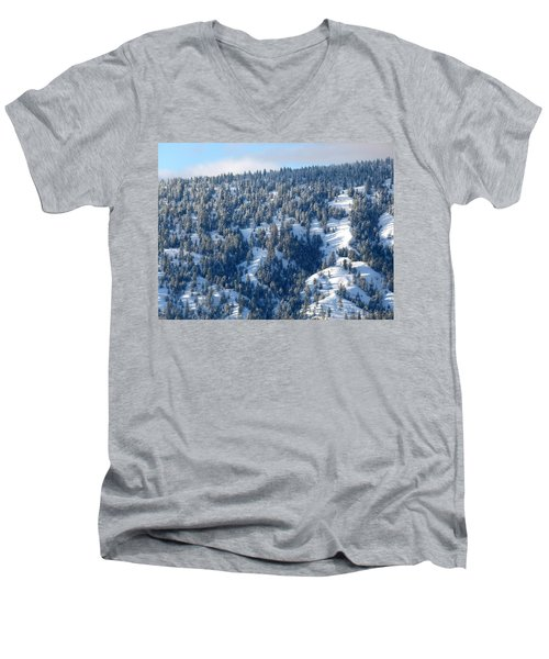 Men's V-Neck T-Shirt featuring the photograph On The Far Side by Will Borden