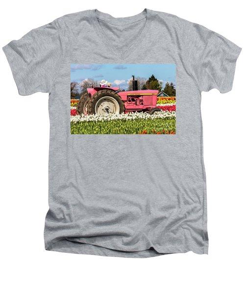 On The Field Of Beauty Men's V-Neck T-Shirt