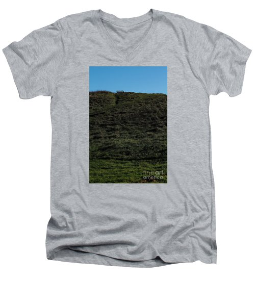 Men's V-Neck T-Shirt featuring the photograph On The Hill by Gary Bridger