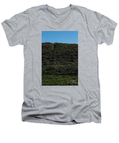 On The Hill Men's V-Neck T-Shirt by Gary Bridger