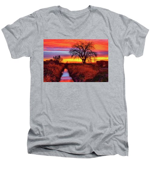 On The Horizon Men's V-Neck T-Shirt by Greg Norrell