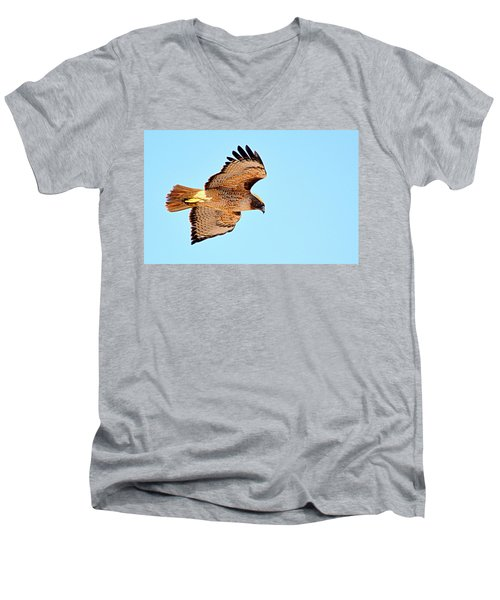 Men's V-Neck T-Shirt featuring the photograph On The Hunt by AJ Schibig