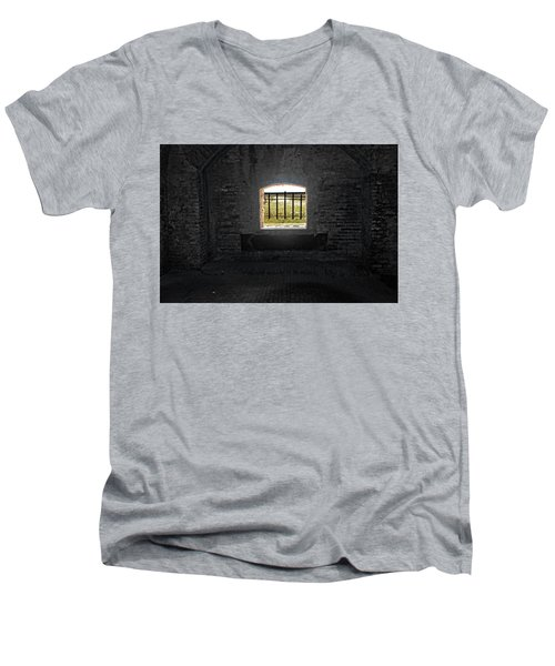 On The Inside Looking Out Men's V-Neck T-Shirt