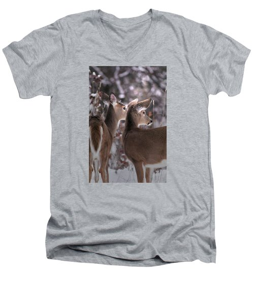 On The Look Out Men's V-Neck T-Shirt by Loni Collins