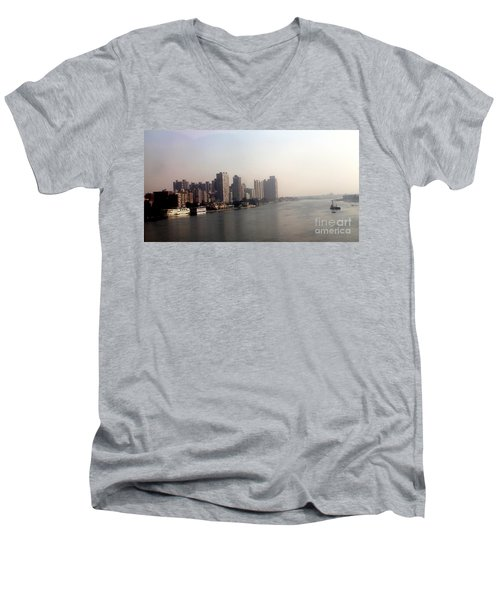 Men's V-Neck T-Shirt featuring the photograph On The Nile River by Jason Sentuf