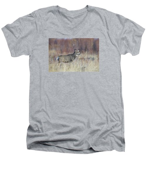 On The River Bank Men's V-Neck T-Shirt