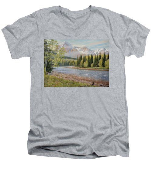 On The Riverside Men's V-Neck T-Shirt