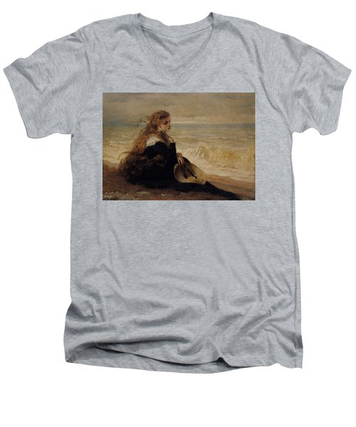 On The Seashore Men's V-Neck T-Shirt