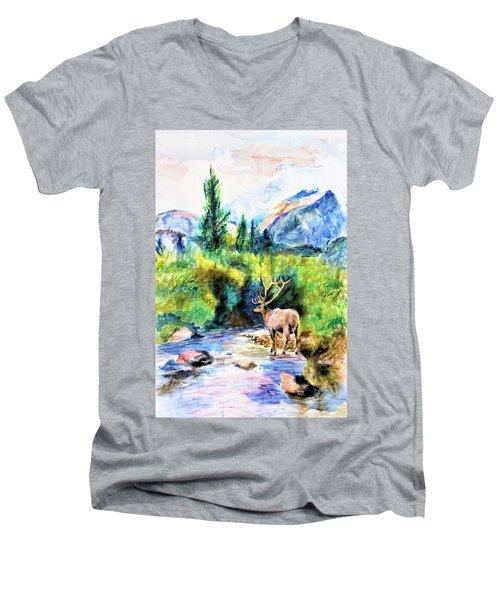 On The Stream Men's V-Neck T-Shirt