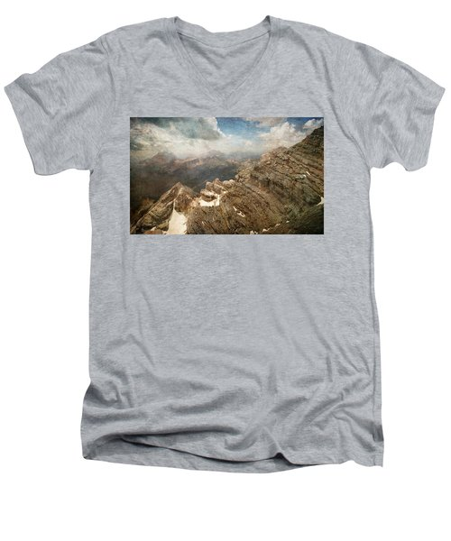 On The Top Of The Mountain  Men's V-Neck T-Shirt