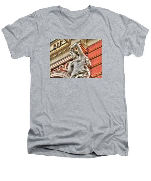 On The Wall Sit Men's V-Neck T-Shirt