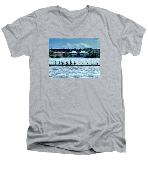 On The Water Men's V-Neck T-Shirt by Ken Frischkorn