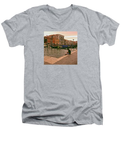 Men's V-Neck T-Shirt featuring the photograph On The Waterfront by Anne Kotan